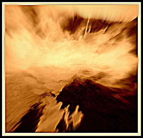 photo,art,numérique,montagne,chamois,avalanche,nuages,avalanche,ciel,brouillard,coloration