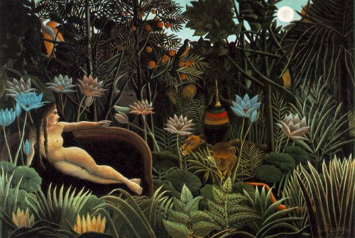 peintre, artiste, Rousseau, couleurs, éclats, joies, tigre,jungle