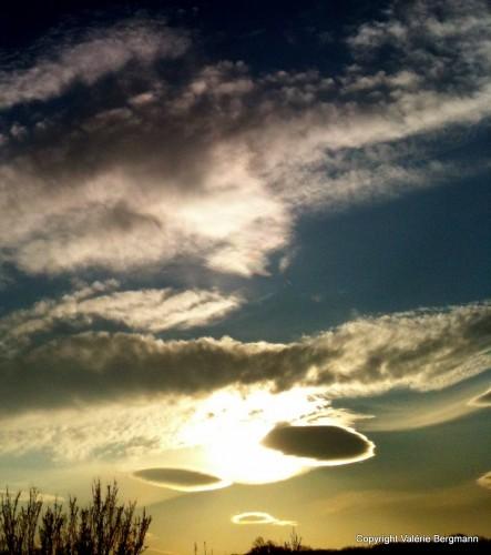 photo, ciel, nuages, lumières, éclairage
