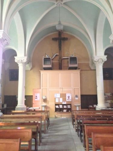 art, église, Drôme, montoison, saints, nef, autel, parvisintérieur, voûte, presbytère, vierge, Dieu, croix, vitraux, village