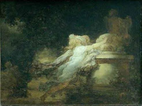 Fragonard, peinture, rococo, amour, voeu,
