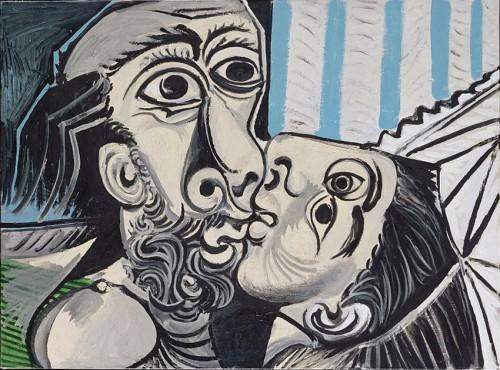 peinture, cubisme, Picasso, le baiser, st valentin