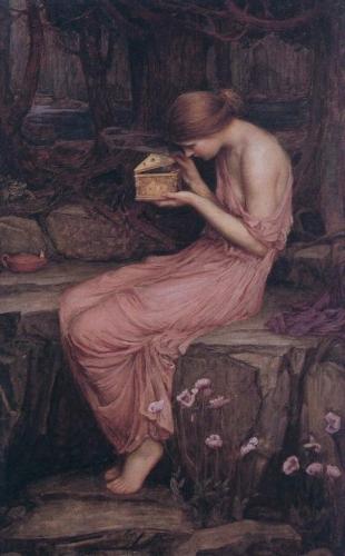 Art, préraphaélisme, psyché, mythologie, Eros, peinture, anglais, toile, Waterhouse, beauté