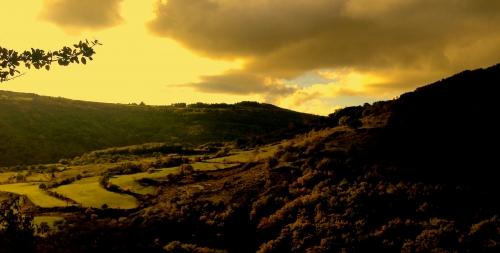 photos, ardeche, nature, montagne, vallée, dessin, peinture, verdure, vallon
