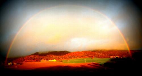 arc en ciel, ciel, couleurs, les chanaux