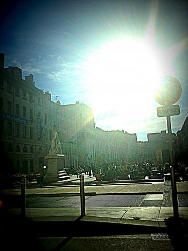Marseille, Port, ville, mer, monde, rues, voitures