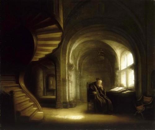 peinture, art, flamande, clair obscur, Rembrandt, école flamande