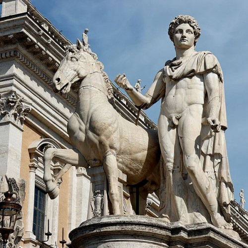 castor, pollux, Homère, statue colossale, Capitole