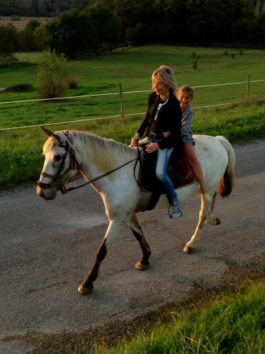 photos, amis, enfants, campagne, chevaux, Drôme, ballade, bonheur