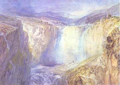 peintre, Turner, chutes, couleur, aquarelle, figuratif