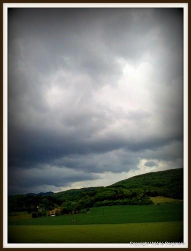 photo, ciel, champ, blé, couleurs, nuages, lumières