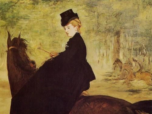 écriture,mots,vie,littérature,histoire, Manet, amazone, cheval