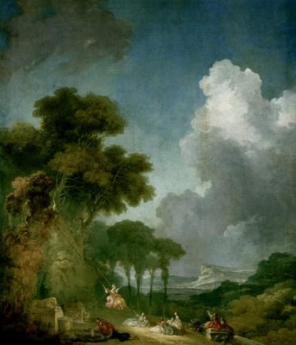 Fragonard, peinture, tableaux, rococo, paysages, oscillation