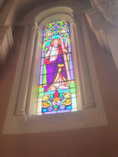 art, église, Drôme, montoison, nef, autel, parvisintérieur, voûte, presbytère, vierge, Dieu, croix, vitraux, village
