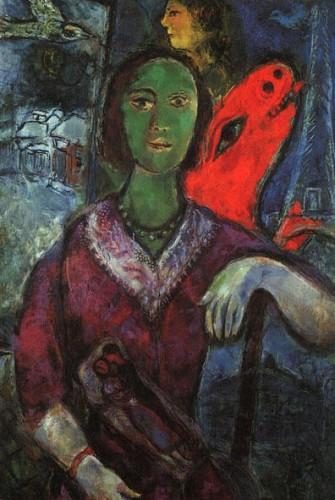 art, Chagall, peinture, Vava, surréalisme, couleurs, courbes