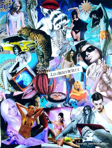 photos, collages, papier, tableau, couleurs