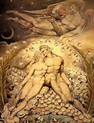 Blake, peintre, romantisme, Adam, Ève, peinture