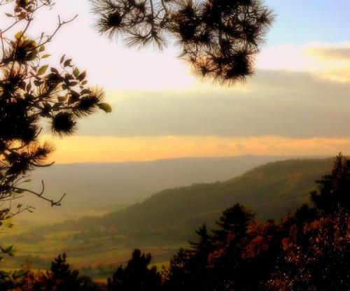 photos,drôme,paysage, nature, vallée,saou,coucher,peinture,tableau,soleil,nature,ciel,nuages,chemin,arbres,allées,montagne,rayons,luminosité,couleurs