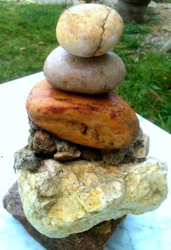 pierre, roche, jardin, photo, séculaire