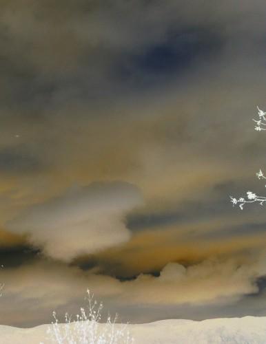 photo, art, carte postale, hiver,,ciel, nuages, pastel,Noël, neige,Drôme,  dessin,