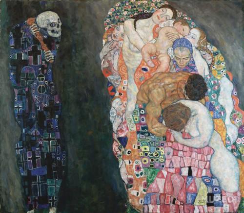 peinture,art nouveau,coquelicots,klimt, vie, mort, musique,vienne
