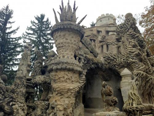 photos, art naïf, facteur cheval, palais idéal, mosquée, visionnaire,sculpture, tombeau, grottes, cariatides, stalagmites, relief,maisons, ,
