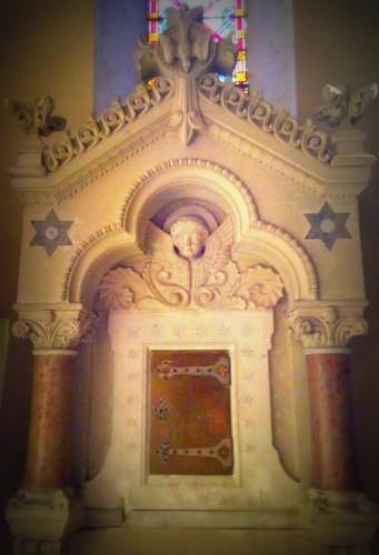 photos, art, architecture, colonnes, église, allex, st maurice, bénitier