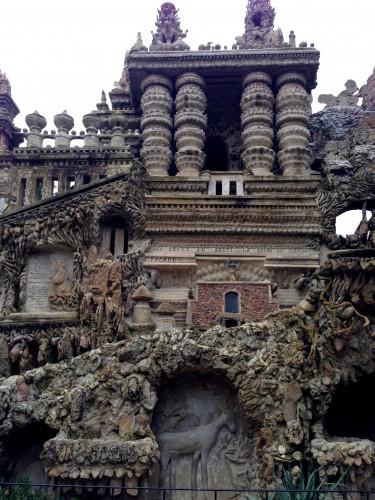 photos, facteur cheval, art, palais idéal, tombeau, stalactites, sculptures, formes, grottes, éclectique ,mausolée, Hauterives, Drôme