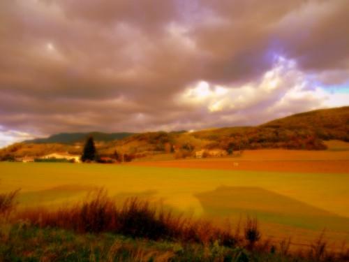 photos, art, arc-en-ciel, terre, ciel, nuages, couleurs, ombres, reflets, paysage, Drôme