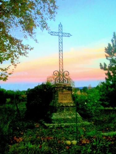 photo, croix, ciel, couleurs, verdure