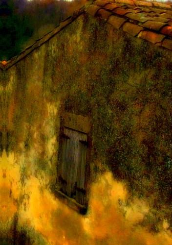 photo, art numérique, peinture, volet, maison,