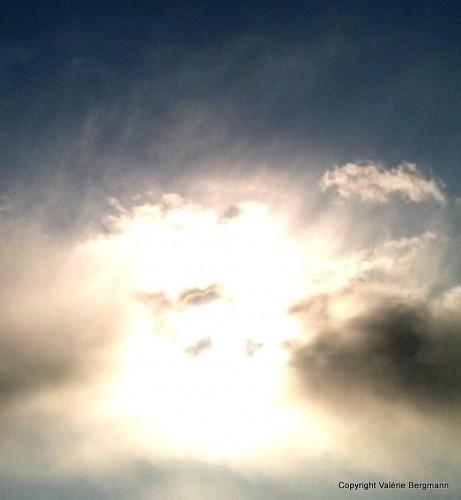 photo, ciel, nuage, grisaille, lumière