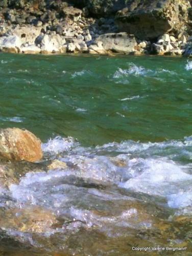 photo, rivière, Vercors, onde, cailloux, lumières, nature