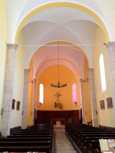 photos, paroisse, église, façade, perspective, voûte, intèrieur, décoration, dieu, vierge, croix, saints, ornements