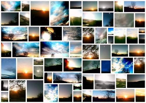 photo,ciel, soleil, couleur, art, nuances,soleil mosaïque