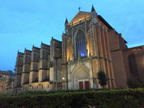 Art, architecture, cathédrale, gothique, Toulouse,