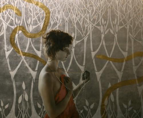artiste, peintre, feuilles d'or, Klimt, art nouveau,argent, américain,