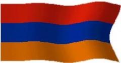 drapleu, orangeeau, arménien, rouge, b