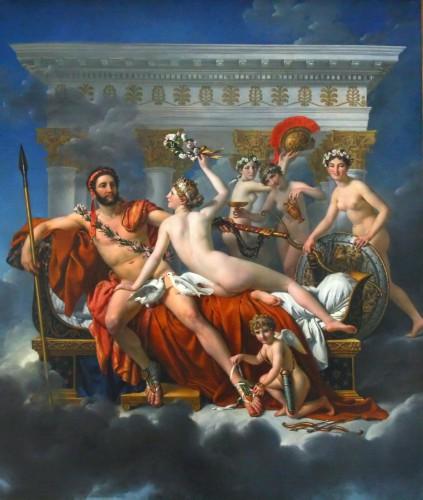 art, Klimt, peinture, néoclassicisme, Mars, Venus, mythologie, David
