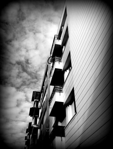 photo, noir et blanc, cité, vie, Montélimar,banlieue, drôme