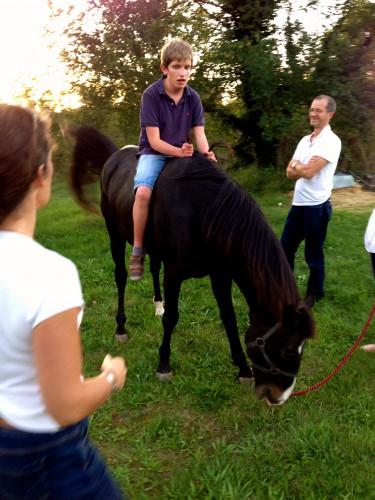photos, enfants, chevaux, campagne, Drôme; Gemini, Hippos