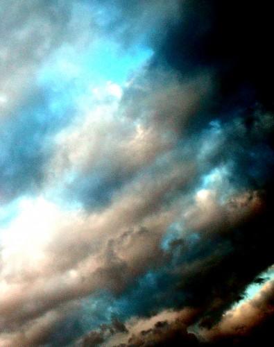 photo, ciel, nuages, couleurs, étendue