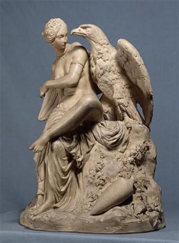 Pradier, Hébé, aigle, sculpture, statue, mythologie
