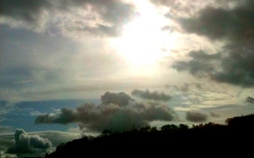 ciel, photo, bleu, gris, coton, nuages