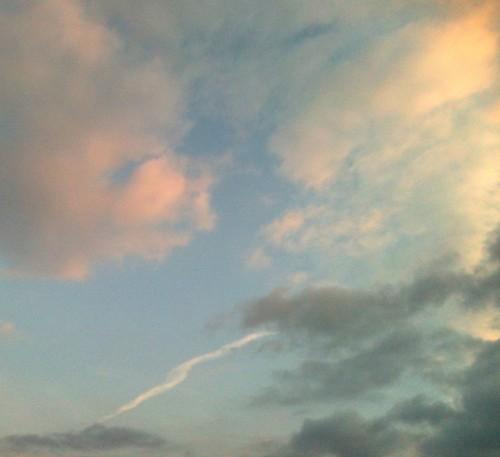 ciel,nuances,bleu,rose,jaune