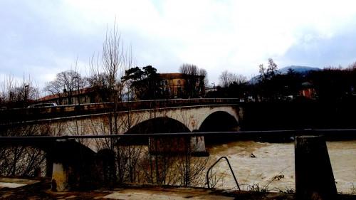photos, Crest, Drôme, ville, pont