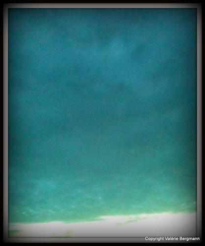 photo, mer, sable, ciel, couleurs, reflet