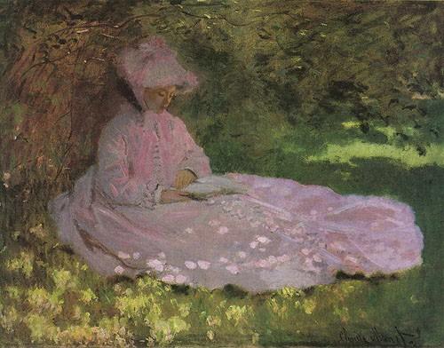 Monet, liseuse, impressionnisme,repos, lecture