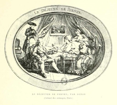 Denon, Voltaire, hédoniste,estampe, eau-forte,