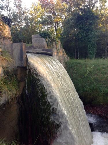photo,chute,eau,cascde,écume,barrage,mousse,lierre,nature,st rémy de provence